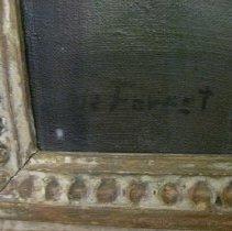 Image of Elizabeth Cady Stanton by Harriet de Forest, signature