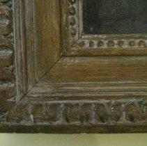 Image of Elizabeth Cady Stanton by Harriet de Forest, frame corner detail