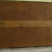 Image of Elizabeth Cady Stanton by Harriet de Forest, writing on reverse 2