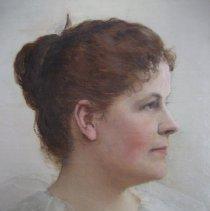 Image of Mrs. McKnight portrait, detail