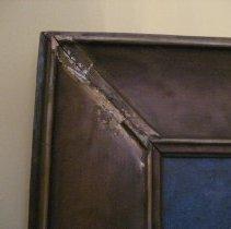 Image of L.V. Grimes portrait, frame detail and damage