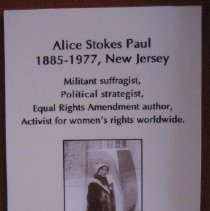 Image of Alice Paul by Fairbanks, wall label