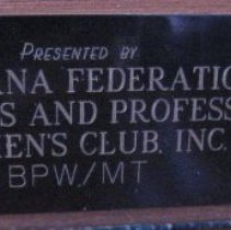 Image of Jeannette Rankin by Mimnaugh, plaque 2 detail