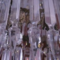 Image of Crystal Pendant Chandelier, crystal detail
