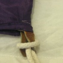 Image of Purple cord detail