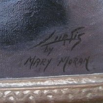Image of Dean Crawford by Mary Moran, signature detail