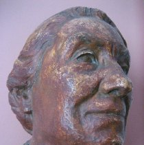 Image of Bust, Agnes Wells, face detail