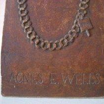 Image of Bust, Agnes Wells, front base detail