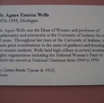 Image of Bust, Agnes Wells, wall label