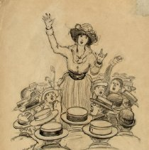 Image of Nina Allender Political Cartoon Collection - 1919.002.019