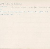 Image of National Woman's Party Congressional Voting Card Collection - 1915.026.007