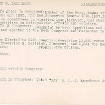 Image of National Woman's Party Congressional Voting Card Collection - 1915.035.006