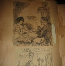 Image of newspaper clippings of political cartoons