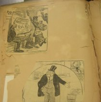 Image of newspaper political cartoons