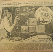 Image of newspaper clippin, congressional card file