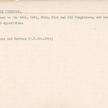 Image of National Woman's Party Congressional Voting Card Collection - 1915.085.009