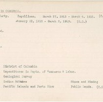 Image of National Woman's Party Congressional Voting Card Collection - 1915.102.020
