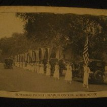 Image of postcard, Suffrage Pickets March on the White House