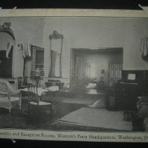 Image of postcard of Assembly and Reception Rooms, Woman's Party Headquarters