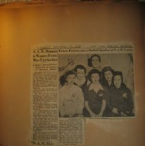 Image of newspaper clipping about women workers