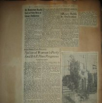 Image of newspaper clipping about NWP's library
