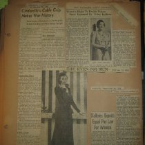 Image of newspaper clippings about Vivien Kellems