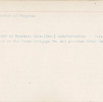 Image of National Woman's Party Congressional Voting Card Collection - 1915.108.004
