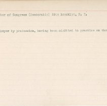 Image of National Woman's Party Congressional Voting Card Collection - 1915.116.007