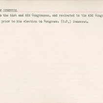 Image of National Woman's Party Congressional Voting Card Collection - 1915.121.003
