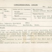 Image of National Woman's Party Congressional Voting Card Collection - 1921.004.001