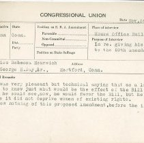 Image of National Woman's Party Congressional Voting Card Collection - 1921.006.001