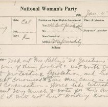 Image of National Woman's Party Congressional Voting Card Collection - 1923.019.002