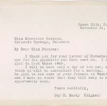 Image of Letter from Rep. Hardy