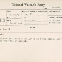 Image of National Woman's Party Congressional Voting Card Collection - 1923.023.003