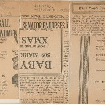 Image of National Woman's Party Congressional Voting Card Collection - 1923.023.004