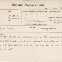 Image of National Woman's Party Congressional Voting Card Collection - 1923.026.003