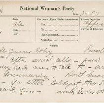 Image of National Woman's Party Congressional Voting Card Collection - 1924.006.001