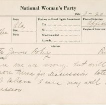 Image of National Woman's Party Congressional Voting Card Collection - 1924.007.001