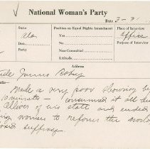 Image of National Woman's Party Congressional Voting Card Collection - 1924.007.002