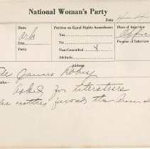 Image of National Woman's Party Congressional Voting Card Collection - 1924.012.001