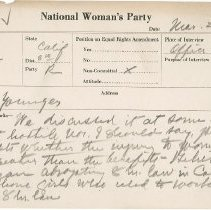 Image of National Woman's Party Congressional Voting Card Collection - 1924.015.001