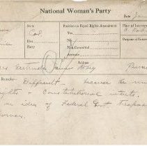 Image of National Woman's Party Congressional Voting Card Collection - 1924.021.001