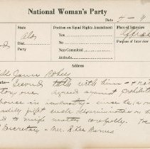 Image of National Woman's Party Congressional Voting Card Collection - 1925.003.002