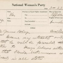 Image of National Woman's Party Congressional Voting Card Collection - 1925.005.001