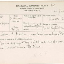 Image of National Woman's Party Congressional Voting Card Collection - 1929.001.001