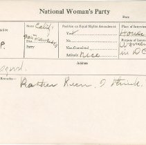 Image of National Woman's Party Congressional Voting Card Collection - 1929.010.002