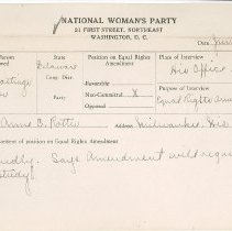 Image of National Woman's Party Congressional Voting Card Collection - 1929.012.001