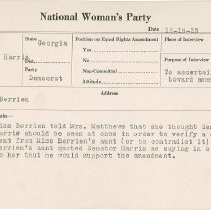 Image of National Woman's Party Congressional Voting Card Collection - 1923.028.001