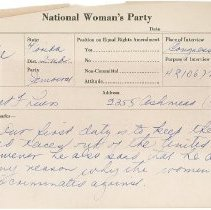 Image of National Woman's Party Congressional Voting Card Collection - 1924.026.003
