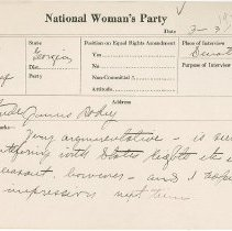 Image of National Woman's Party Congressional Voting Card Collection - 1924.028.001